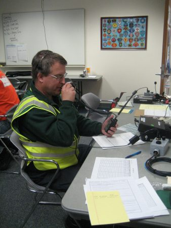 Ham radio operator and member of the communications support team.