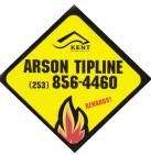 Arson tipline logo with phone: 253-856-4460