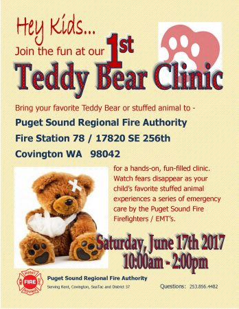 Teddy Bear Clinic @ Fire Station 78
