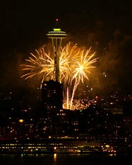 Fireworks over Seattle